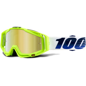 100% Racecraft Anti Fog Mirror Goggles gul